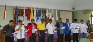 Peserta pemilu  mendeklarasikan Pemilu 2014 berlangsung secara DAMAI.